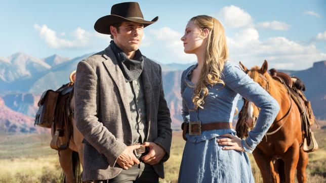 Evan Rachel Wood e James Marsters nei ruoli di Dolores e Teddy