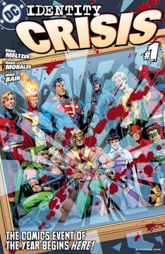 Copertina del primo numero americano della miniserie Identity Crisis