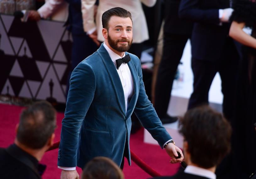 Chris Evans agli Oscar sul red carpet