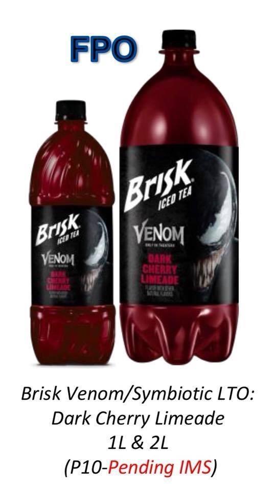 La nuova bevanda Brisk con Venom sull'etichetta