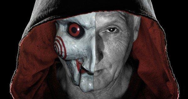 Jigsaw maschera a metà