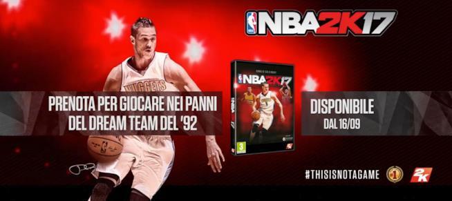 NBA 2K17 ha in copertina Danilo Gallinari