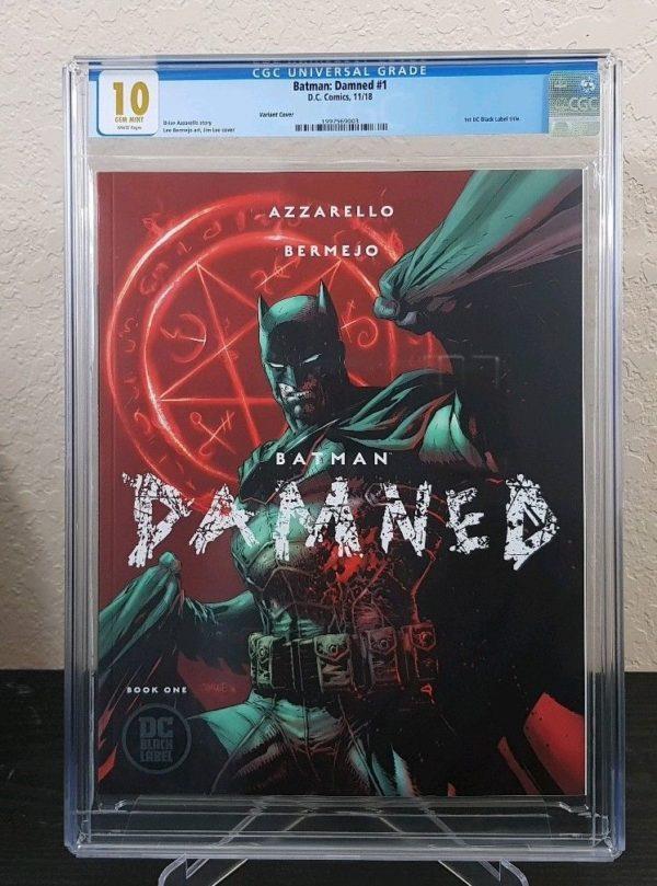 Il numero 1 di Batman Damned protetto dal tipico involucro di plastica della CGC