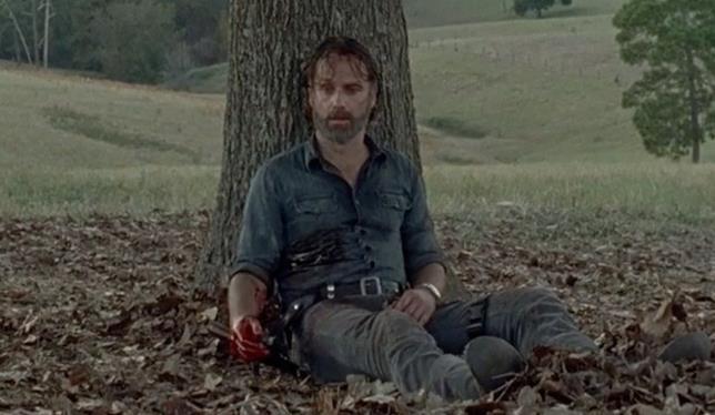 Rick Grimes ferito in The Walking Dead 8