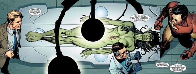 Autopsia di uno Skrull tratta da Secret Invasion