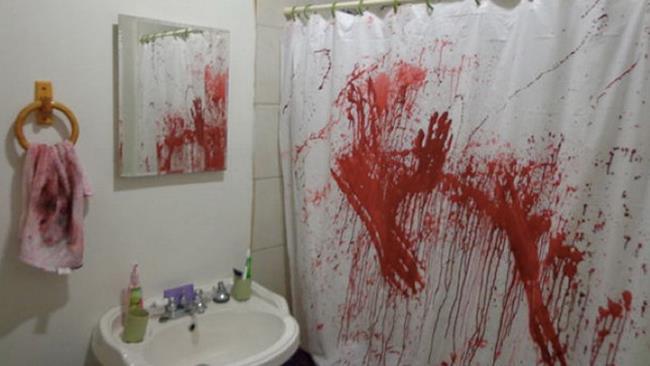 Scena del crimine, decorazione di Halloween