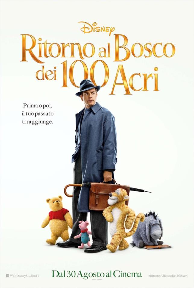 Ewan McGregor nel poster italiano di Ritorno al Bosco dei 100 Acri