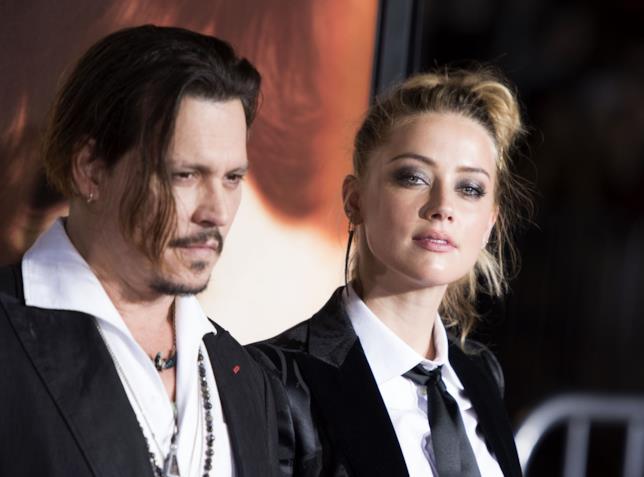 Amber Heard in compagnia di Johnny Depp