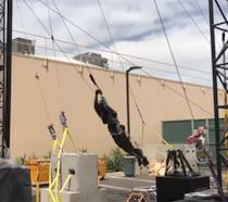 Il robot-stuntman di Disney in azione