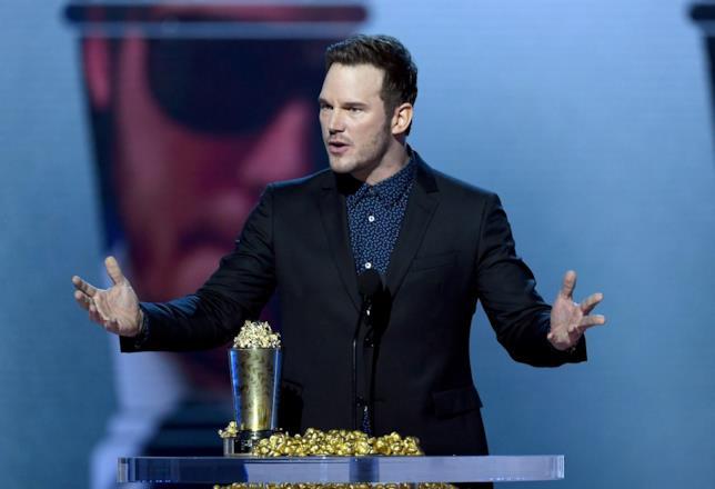 Chris Pratt alla cerimonia degli MTV Movie And TV Awards