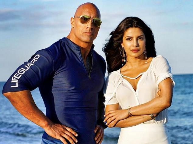 Dwayne Johnson e Priyanka Chopra in Baywatch