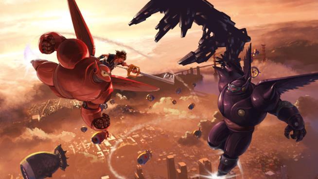 Sora in azione in Kingdom Hearts III