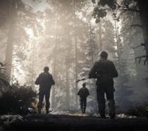 Soldati in esplorazione in una sequenza di Call of Duty: WWII