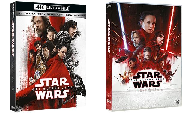 Gli Ultimi Jedi in versione 4K Ultra HD e DVD