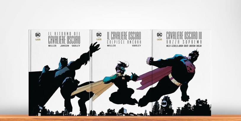 I tre volumi affiancati a comporre l'insieme dell'immagine di copertina
