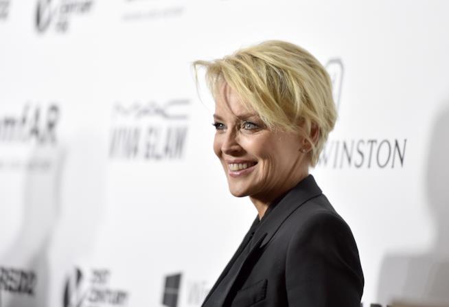 Sharon Stone in un primo piano