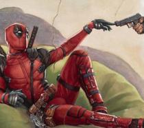 Particolare dell'affresco La Creazione di Deadpool