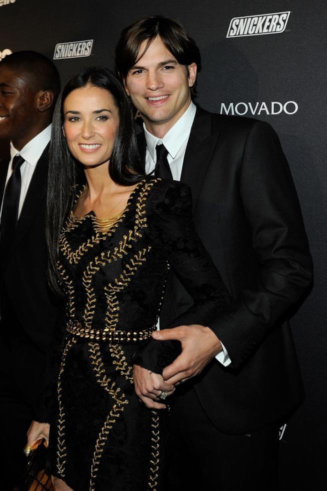 Ashton Kutcher e Demi Moore ai tempi del loro matrimonio