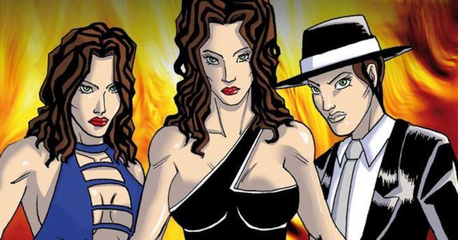 La protagonista di Lady Mafia nella versione a fumetti