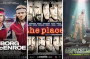 I poster dei film Borg McEnroe, The Place, Addio Fottuti Musi Verdi