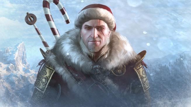 Geralt di Rivia di The Witcher in versione natalizia