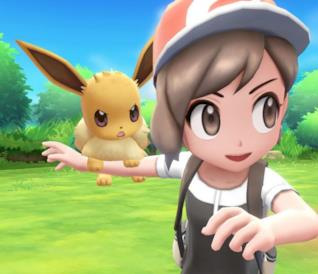 Eevee in Pokémon Let's Go Eevee