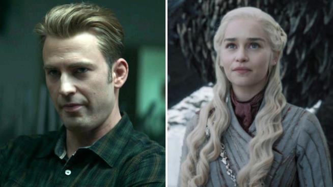 A sinistra Capitan America e a destra la madre dei draghi Daenerys Targaryen