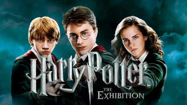 Locandina ufficiale della mostra Harry Potter: The Exhibition