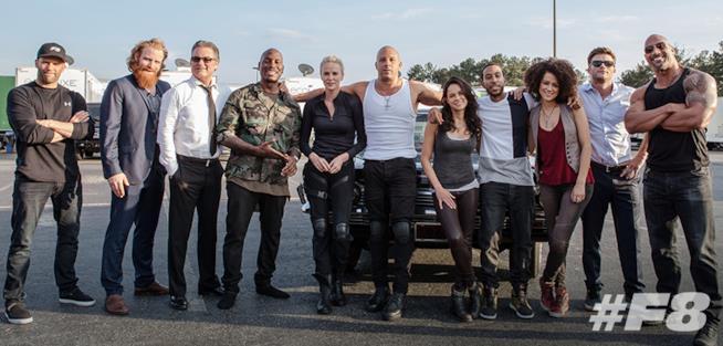 Il cast al completo di Fast & Furious 8