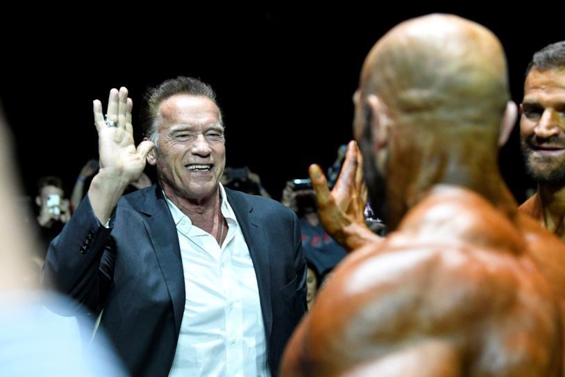 Una foto di Arnold Schwarzenegger all'Arnold Sport Festival Africa 2019 di Johannesburg