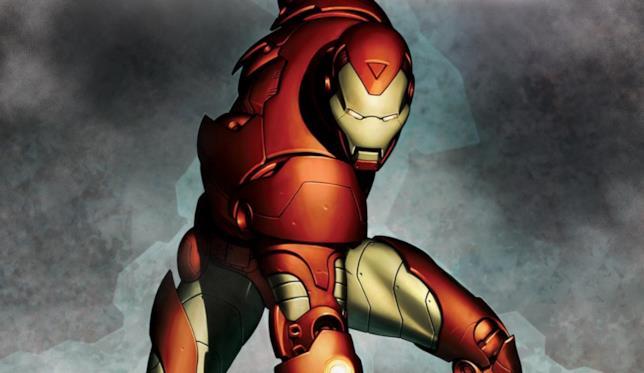 Una delle straordinarie armature di Iron man