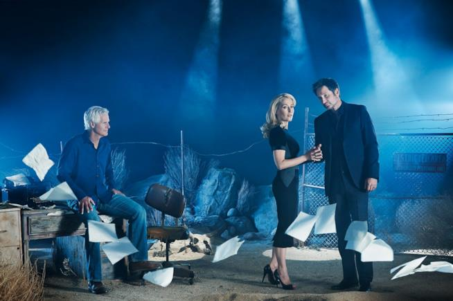 X-Files: Carter, Duchovny e Anderson