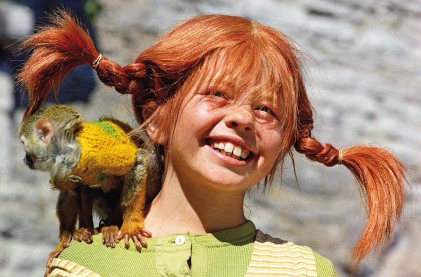 Inger Nillson, la protagonista della serie TV Pippi Calzelunghe