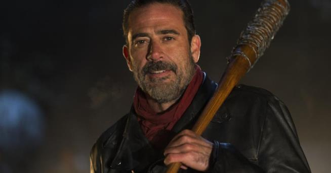L'attore Jeffrey Dean Morgan, Negan in The Walking Dead