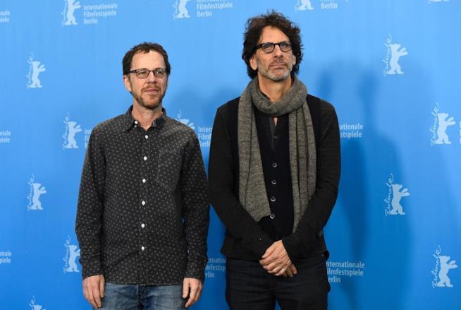 Joel e Ethan Coen sul tappeto del Festival Internazionale del Cinema di Berlino