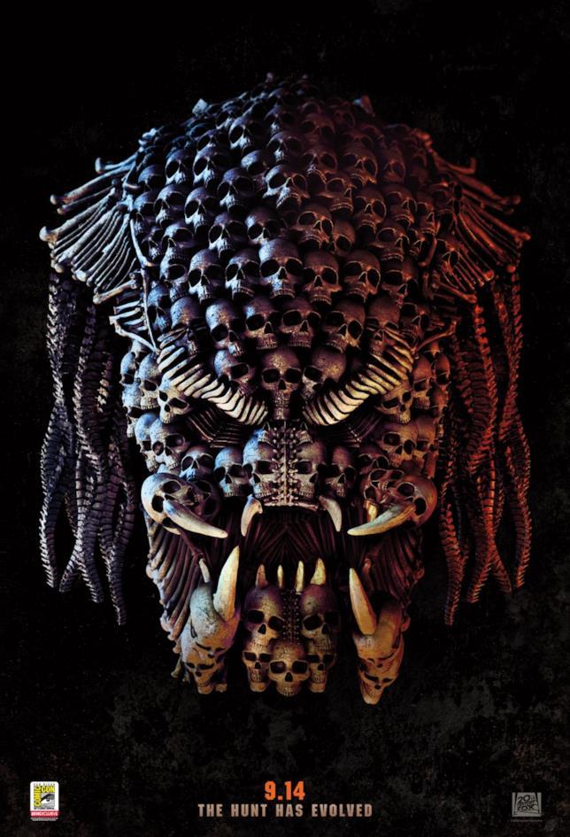 Il nuovo poster di The Predator, dal Comic-Con