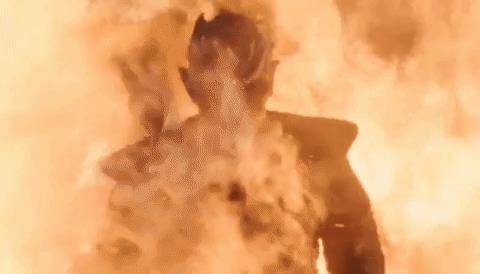 GIF del Night King fra le fiamme in Got 8x03