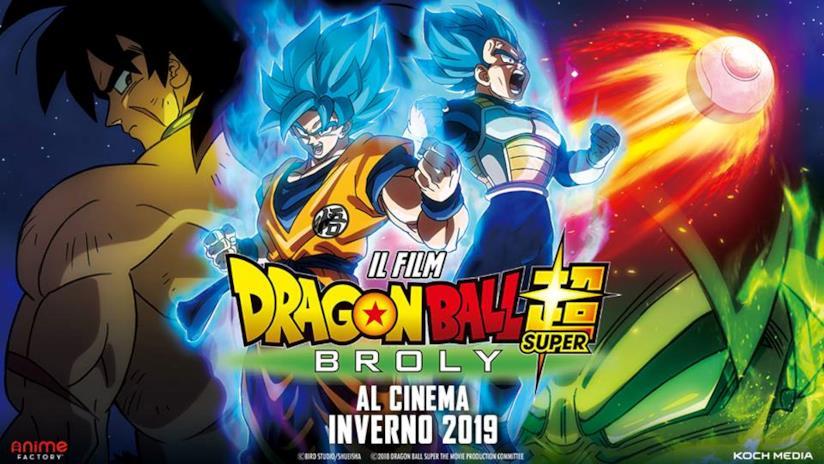 Dragon Ball Super: Broly, il poster italiano d'annuncio
