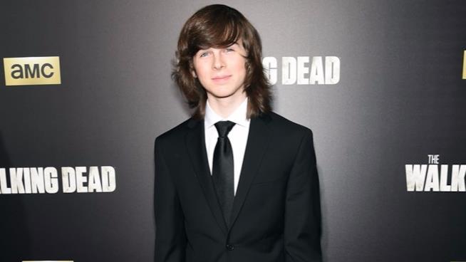 Chandler Riggs a un evento di The Walking Dead