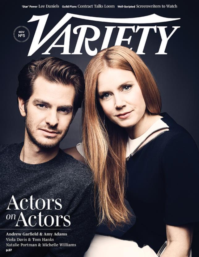 Andrew Garfield e Amy Adams nella foto di copertina di Variety
