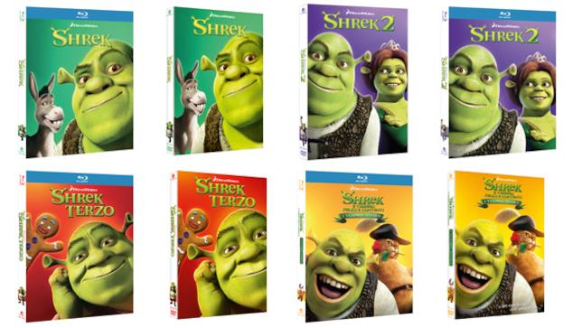 Shrek 1-4 in DVD e Blu-ray