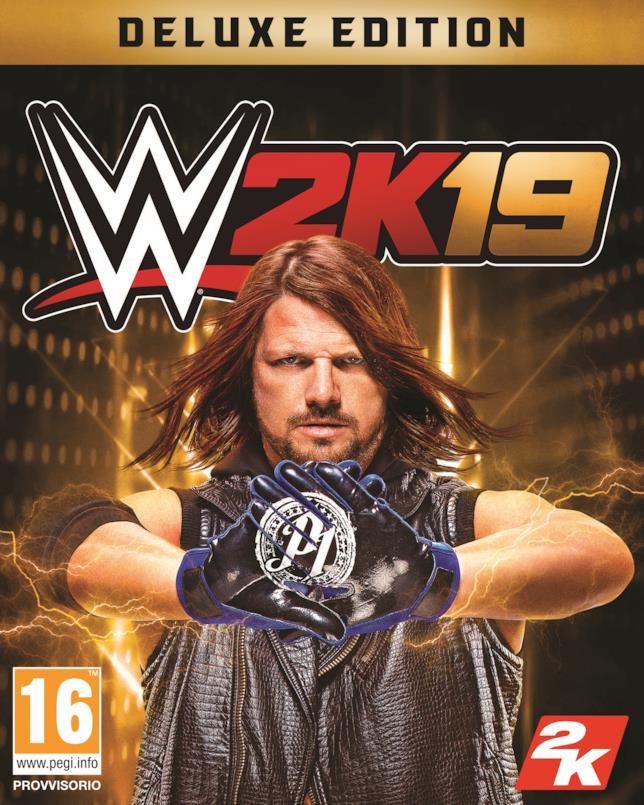 La copertina ufficiale di WWE 2K19 con Aj Styles