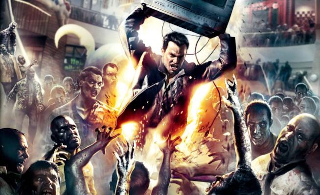 Il protagonista di Dead Rising in un artwork del videogame