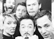 Un primo piano di Robert Downey Jr. nel poster ufficiale di Avengers: Endgame