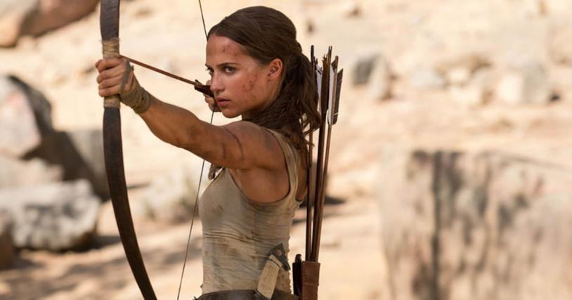 Alicia Vikander nei panni di Lara Croft nell'originale Tomb Raider