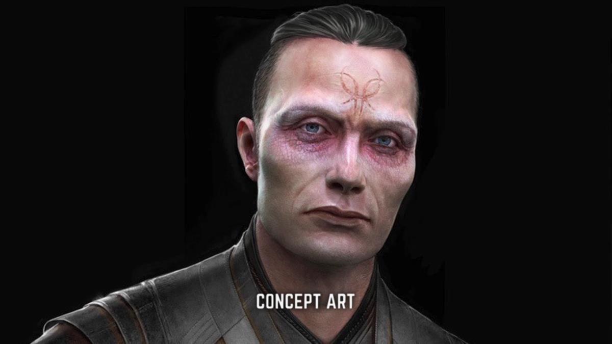 Il personaggio di Mads Mikkelsen in un concept art di Doctor Strange