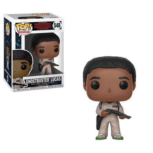 Il Funko POP! di Lucas con il costume di Ghostbusters