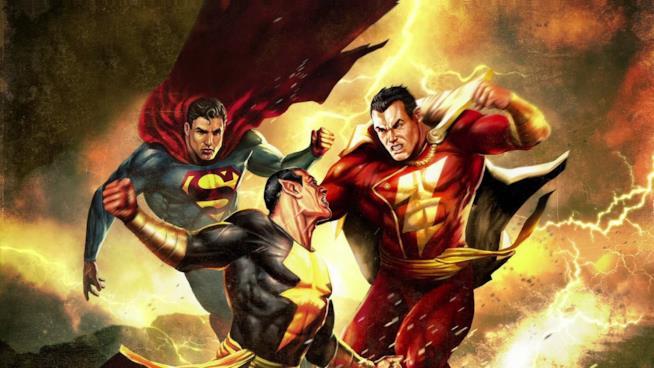 Lo scontro tra Shazam e Black Adam