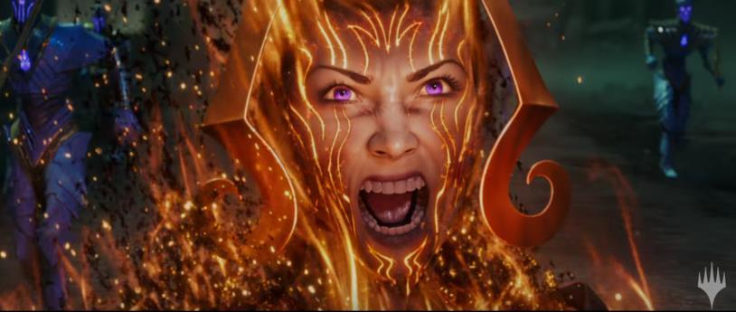 Immagine proveniente dal trailer promozionale de La Guerra della Scintilla, l'espansione di Magic: The Gathering