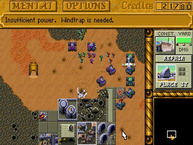 Un'immagine di gioco da Dune II
